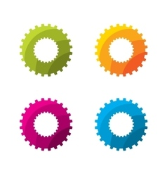 Set of abstract circle gear logo template vector image