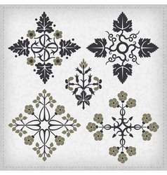 Set of decorative ornament elements vector image