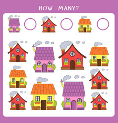 simple educational math game for kids vector image