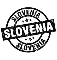 slovenia black round grunge stamp vector image