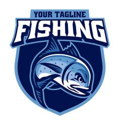 Sport logo giant trevally fishing vector