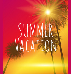 Summer vacation natural background vector