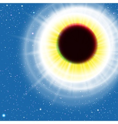 Sun Eclipse vector image