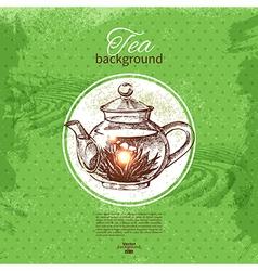 Tea vintage background vector image vector image
