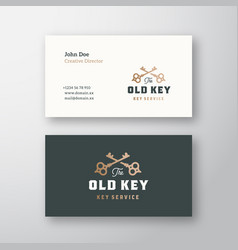 the old key abstract sign or logo and vector image