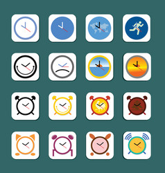 time icon in many styles vector image
