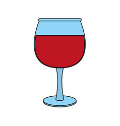 transparent wine glas icon vector image