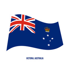 Victoria vic flag waving on white background vector