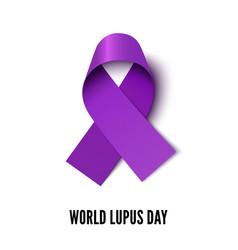 world lupus day ribbon realistic vector image