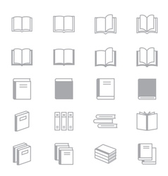 Book Icons Line Set Of Design copy vector image vector image