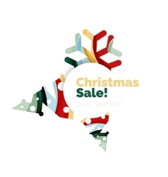 Christmas sale greeting card or banner vector image