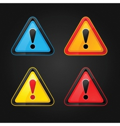 hazard warning sign vector image vector image