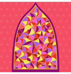 stained glass window with different type of color vector image vector image