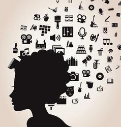 Woman of art vector image vector image