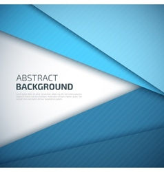 Blue paper layers abstract background vector image