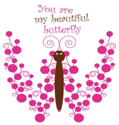 My Beautiful Butterfly vector image vector image