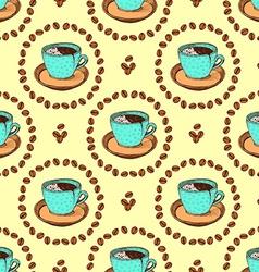 Sketch broken coffee cup vector image