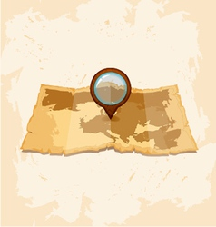 vintage old paper map vector image