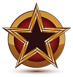 3d classic royal symbol sophisticated black star vector