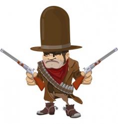 cowboy gunman vector image