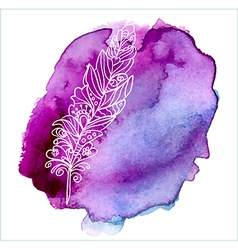 Feather painted live watercolor paint vector image