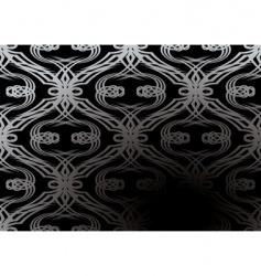 silver tangle wallpaper vector image vector image