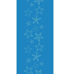 Starfish blue texture vertical seamless pattern vector image vector image