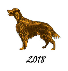 the image of a dog of the vector image