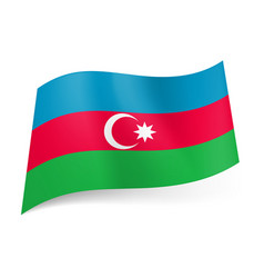national flag of azerbaijan blue red and green vector image vector image