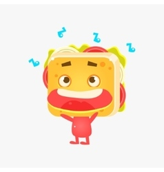 Sandwich Character Listening To Music vector image