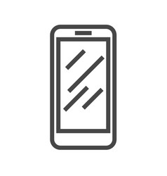 smartphone thin line icon vector image