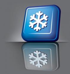 snowflake button vector image vector image