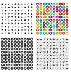 100 pumpkin icons set variant vector