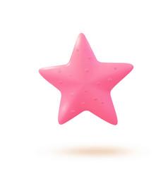 3d starfish cartoon ocean vector image