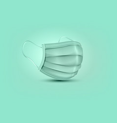 3d surgical mask isolated on green background vector