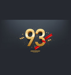 93rd year anniversary background vector