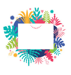 abstract background floral design vector image