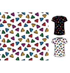 Abstract cartoon style diamond seamless pattern vector image