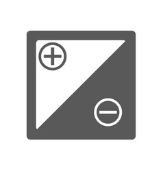 accumulator icon simple vector image