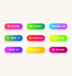 action gradient button learn more web ui vector image