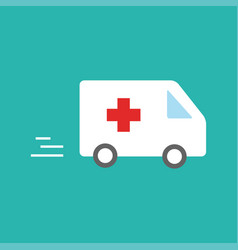 Ambulance car - emergency sign - medical vector