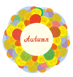 Autumn funny frame with trees vector image