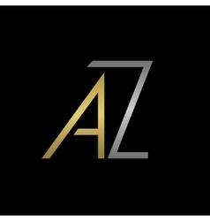 Az letters logo vector