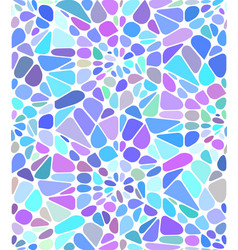 Background with a blue broken stained glass vector
