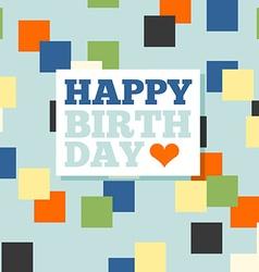 Background with happy birthday typography Invite vector image
