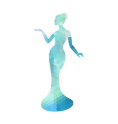 beautiful lady silhouette beautiful lady vector image