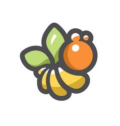 bee apiary honeybee apis cartoon vector image