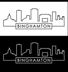 binghamton skyline linear style editable file vector image