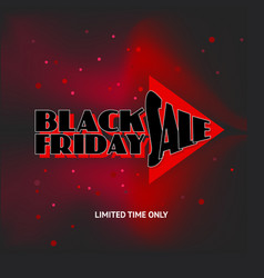 black friday advert on black background vector image