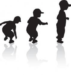 boys vector image